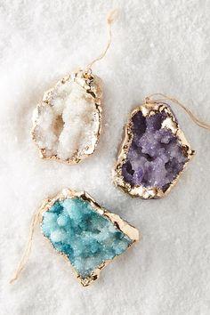 Gilded Crystal Ornament   Anthropologie