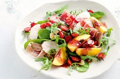 Poached chicken salad with raspberry dressing  http://www.bodyandsoul.com.au/nutrition/healthy+recipes/poached+chicken+salad+with+tomato+and+raspberry+dressing,28135