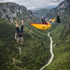 Extreme sports: rock climbing and hammock camping taken to the next level. Adventure Awaits, Adventure Travel, Oh The Places You'll Go, Places To Visit, Into The Wild, Rando, Kayak, To Infinity And Beyond, Outdoor Woman