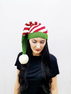 982fbdcaf22 Christmas Long Tail Elf Hat with Pompom  3 Merino