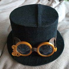 Top hat and goggles