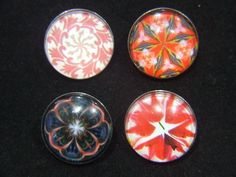 Noosa Chunks Red Geometric Series for Noosa Style Jewellery Jewelry, Bracelets, Rings and Pendants.