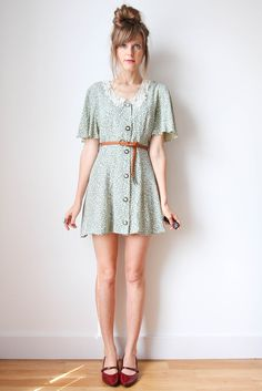 love this light floral shirtdress!