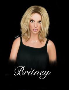 Britney Spears draw drawing art