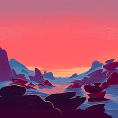 """Rob Hunter tells us more about his """"storybook"""" artwork and animations for Elbow's Little Fictions Art And Illustration, Graphic Design Illustration, Cartoon Background, Animation Background, Ap Studio Art, Environment Concept Art, Landscape Designs, Landscape Art, Art Studios"""