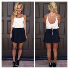 Black Scuba Skater Skirt