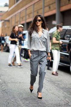Outfits de color monocromáticos. #ModaAzul