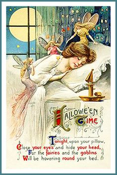 Art Nouveau Halloween Post Card