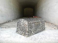 Antique Salesmans Sample Burial Vault / by dustyatticantiques, $100.00