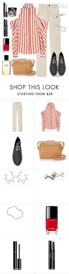 """Saturday Is Movie Date Night!"" by sereneowl ❤ liked on Polyvore featuring Christopher Esber, Loewe, Delpozo, Sabine Getty and Chanel"