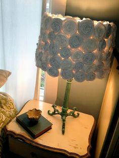 diy fabric rose lampshade