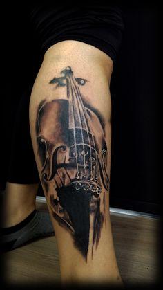 violin tattoo