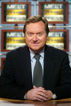 Tim Russert. He died of a heart attack at 58.