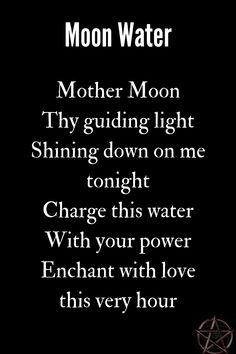 Entertainment Discover A Wiccan moon water chant. A Wiccan moon water chant.