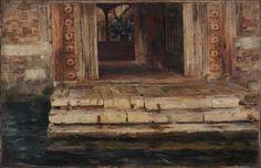 Antonio Rotta, Porta d'acqua a Venezia, 1887, olio su tela / Antonio Rotta, Water door in Venezia, 1887, oil painting on canvas, Gorizia, Palazzo Coronini Cronberg, inv. 517