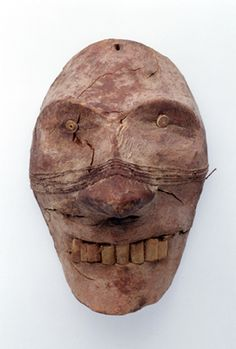 Wooden Face, c. 1800-1500 BCE, Excavated from Xiaohe (Little River) Cemetery 5, Charqilik County