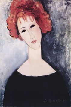 Donna con i capelli rossi. #AmedeoModigliani. #hairhistory #hairart #historyofart #red