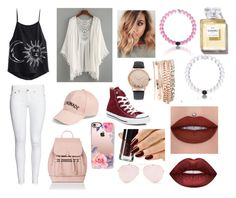 """""""How to wear: casual"""" by iackrillhill on Polyvore featuring Converse, Accessorize, Amici Accessories, Casetify, Jessica Carlyle and Lime Crime"""