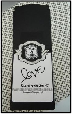 Black and White Wedding Card by kaygee47 - Cards and Paper Crafts at Splitcoaststampers