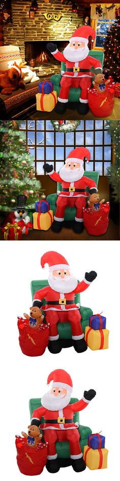 Yard D cor 156812 7 Gemmy Photorealistic Santa W Spot Light - inflatable christmas yard decorations