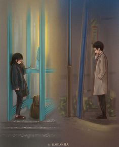 My Mister fanart dabian 超人 Cute Couple Cartoon, Cute Couple Art, Cute Love Cartoons, Anime Love Couple, Cute Anime Couples, K Wallpaper, Scenery Wallpaper, Anime Couples Drawings, Couple Drawings