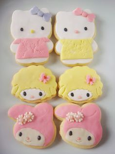My Cooking Experiments: Hello Kitty , My Melody and Friend Cookies.