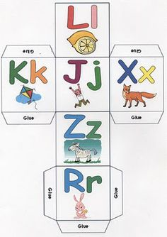 letter dice a-z printable