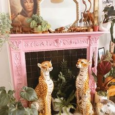 Maximalist Interiors (@maximalist.interiors) • Instagram photos and videos Beautiful Space, Vintage Ceramic, Ceramics, Fireplace Set, Maximalist Interior, Decor Inspiration, Tropical Vibes, Living Room Decor Inspiration, Vintage
