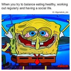 When You Try To Balance Eating Healthy