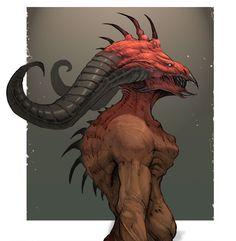 Demonic Bust 02 by *SOPossum on deviantART