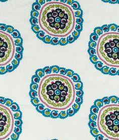 Robert Allen Benchi Calypso Blue Fabric