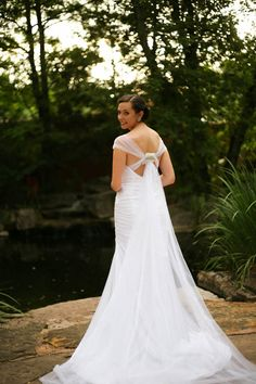 Romantic wedding dress from David's Bridal