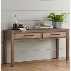 Buying Online Marshall Console Table by Birch Lane™ Traditional Console Tables, Table And Bench Set, Wooden Console Table, Dining Table, Table Accessories, Cool Furniture, Entryway Tables, Foyer, Home Decor