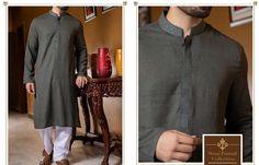 00f4ff7bc6 Gents Kurta Design in Dark Green color with White shalwar - Men6