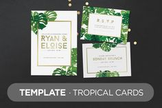 Template · Tropical Cards by TOMODACHI on Creative Market