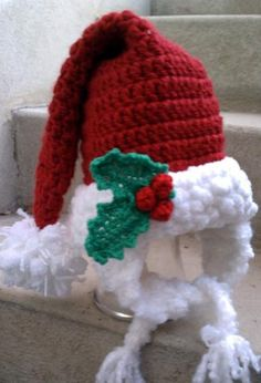 Mr. Claus Hat #crochet pattern $4.99