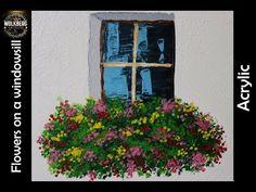 I followed @Wow Art's #2 Daily Art Challenge | Flowers on a Windowsill | Acrylic | Relaxing Art | - YouTube
