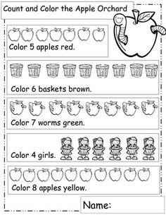 Apples Math Worksheets, Printables