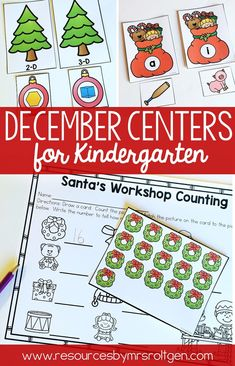 December Centers for Kindergarten | Use this set of 12 math and literacy centers with your kinders. You get reindeer and Christmas themed activities. Topics include rhyming, writing, roll and read, vowels, syllables, letters, number tracing, counting, numbers, sorting, addition, and comparing numbers. These work great for independent work, early or fast finishers, centers and stations, review, and more. Great for your Kindy students for use this winter.