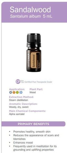 doTERRA Sandalwood Essential Oil Uses w/ Recipes - Best Essential Oils Helichrysum Essential Oil Uses, Sandalwood Essential Oil, Essential Oil Perfume, Melissa Essential Oil, Best Essential Oils, Essential Oil Blends, Doterra Sandalwood, Doterra Essential Oils, Be Natural