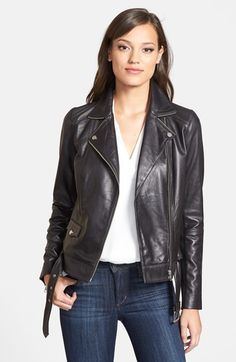 Trouve Trouvé Zip Detail Leather Jacket on shopstyle.com