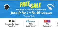 Shopclues (Hurry) â Buy Mobile Accessories at Re.1 (Rs. 49 Shipping Extra)