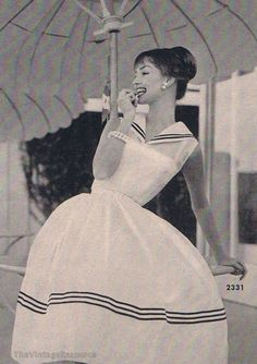 1958/Another adorable sailor dress.. .love.
