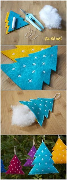 Diy – Felt Christmas Decorations