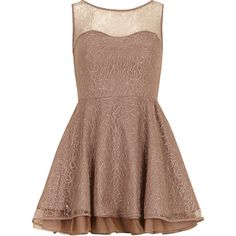Dorothy Perkins Mocha sleeveless lace tunic (725 RUB) ❤ liked on Polyvore featuring dresses, vestidos, robes, tops, brown and dorothy perkins
