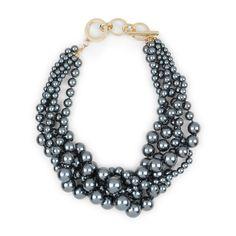 Multi Strand Pearl Drama Necklace