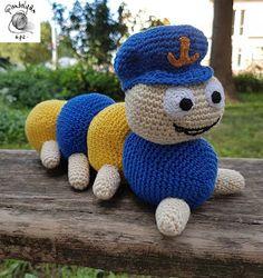 FONAL ANYUK: Kukac Úr horgolva Puppets, Crochet Hats, Teddy Bear, Urban, Toys, Animals, Fictional Characters, Amigurumi, Knitting Hats