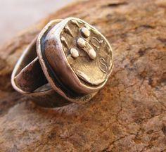 Ancient East Indian Coin and Rustic Sterling by deserttalismans, $197.00