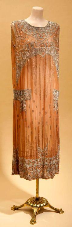 1920's tangerine dress