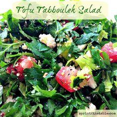 Tofu Tabbouleh Salad #strangebutgood #vegan